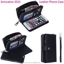 innovative products for import, zipper wrist leather phone case for iPhone 6 plus