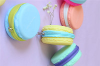 Cheapest Funny promotion gift mighty macaron coin purse zip around eco silicone wallet