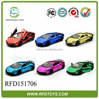 1:36 pull back die cast car, cool design alloy metal toy car, colorful die cast model car with music & light
