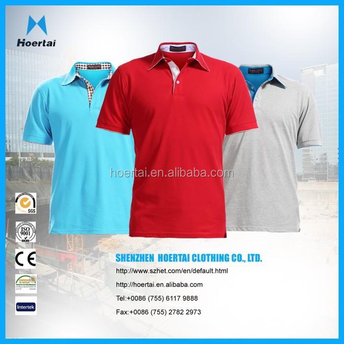 Custom embroidered logo high quality promotional polo t for High quality embroidered polo shirts