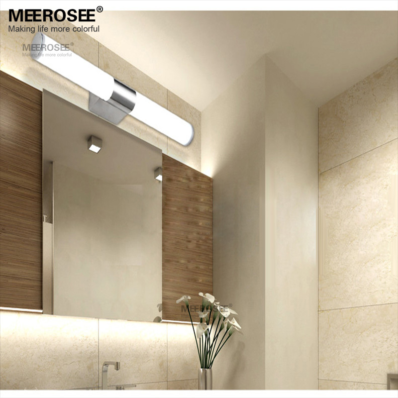 nueva acrlico moderna bao aseo wash maquillaje espejo de pared lmpara w luz llevada de