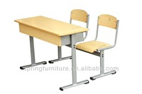 School desk and chair attached school desks and chair school furniture wholesale CT-310