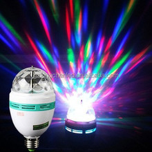 Disco effect light gathering rotating led bulb ,led rotating lamp ,led rotating bulb