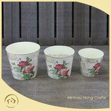 Hot Sale set 3 round plastic flower pot, PP flower planter wholesale