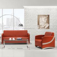 2015 Simple moderns office furniture Leather Office Sofa Set Design (SJ3022)