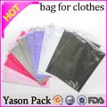 Yason roupas de embalagem Poly Bag para vestuário fábrica de roupas saco de plástico com Zipper roupas saco plástico de embalagem de alta qualidade Pac