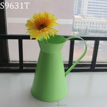 European style decorative galvanized metal flower vase jug