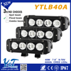 compact-size intensity 40w led driving spot light bar steering rack bar led strip flashing light lens pc
