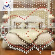 Beautiful heart shape crystal beads curtain for door decoration