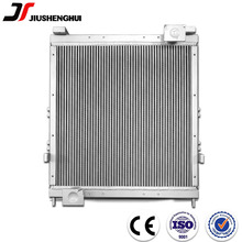 Plate fin cooling water radiator