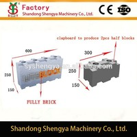 China factory directly sell CLC light weight concrete hollow block moulds for over the world
