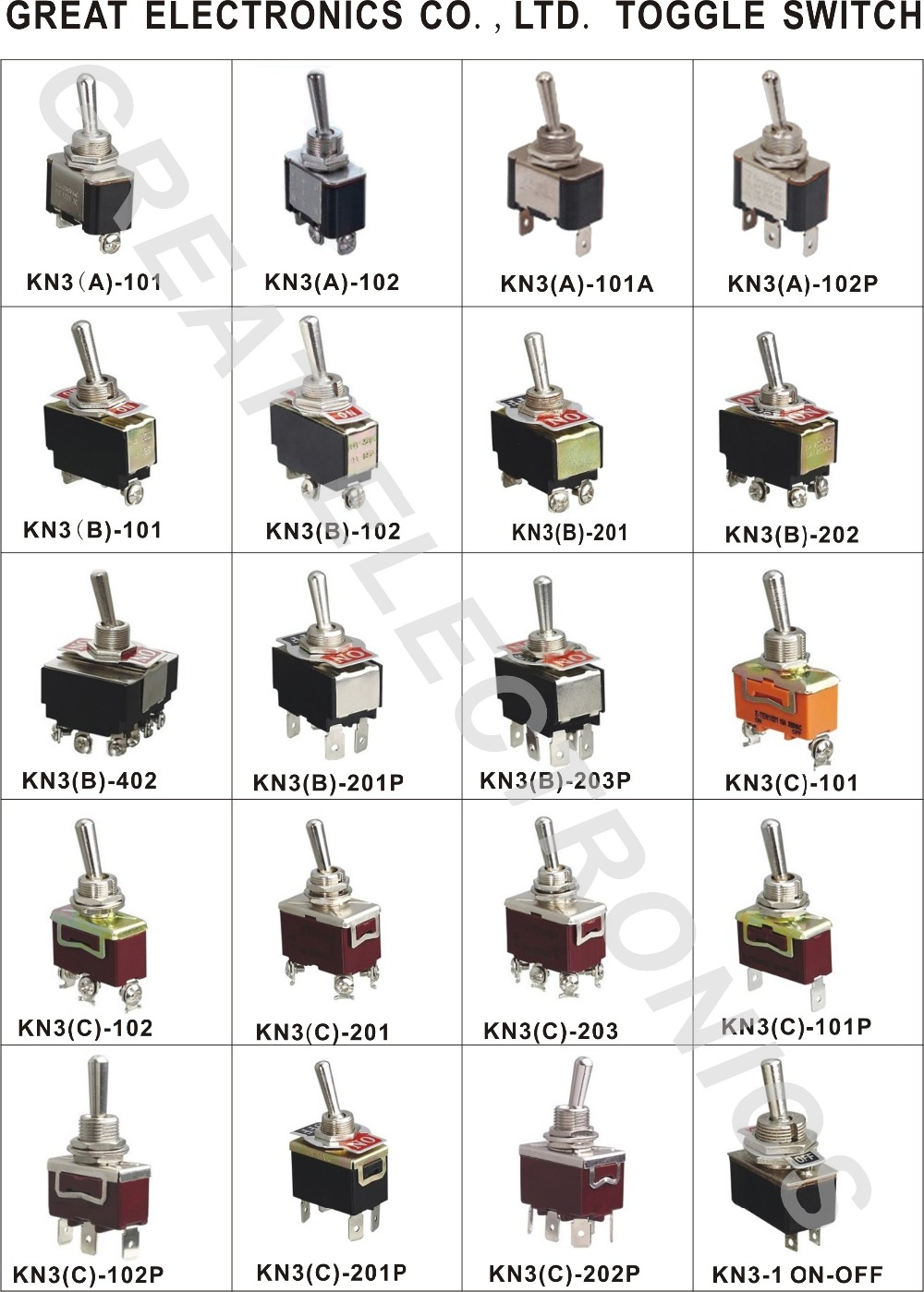 Cgc Kn3b 202 6 Pins Dpdt On Reset Big Toggle Switch Buy Is A 4 Way 1