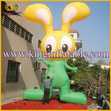 5mH Outdoor Advertiaing Inflatable Rabbit Cartoon, Cheap Inflatable Cartoon Character