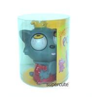 2015 hot new toyfor children China wholesale vinyl grey wolf pop eyes cartoon figure toys