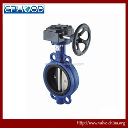 ISO,GB,JIS Marine Centric Type Wafer Worm Gear Operated Butterfly Valve