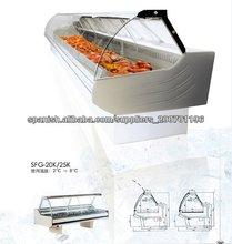 refrigerador de cristal curvado de delicatessen