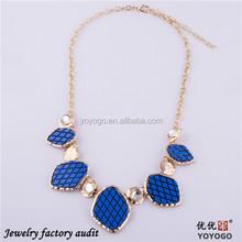 2014 Royal Blue Acrylic Hula Necklace Designs