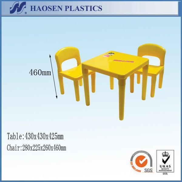 En gros pas cher en plastique enfants table et chaise pour la maternelle
