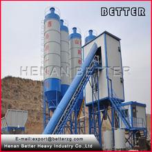 Twin shaft mixer HZS60 concrete batching plant on sale