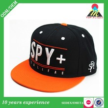 Embroidery design 6 panels sport snapback hat and cap