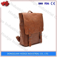 Wholesale fashion promotional custom high school PU military backpack