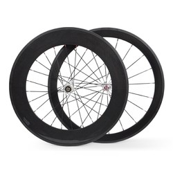 700C 50mm front 88mm rear,Carbon fiber bicycle wheel clincher road wheelset ruedas carbono with white novatec hubs