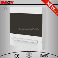 Newest Black White light 5-1-1Day Program FCU Thermostat, fan coil thermostat,