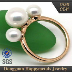 2015 Hot Selling Lowest Cost With Custom Logo Pearl Ring Designs