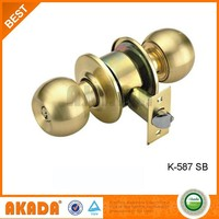 Wholesale High Quality Steel Cylindrical Knob Door Lock In Gold Color