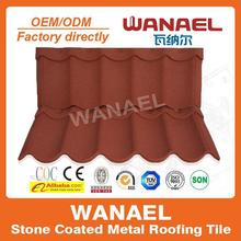 Wanael stone coated steel roof tile/house roof cover materials/economic roof covering