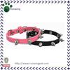 Spikes Studded Wholesale Dog Collar Plain Leather