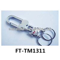 fashion silver metal key chain- promotion key chain with O ring FUTUO