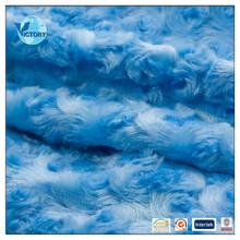 China manufacturer 100% polyester warp plush fabrics for toys indonesia