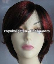 Fashion Short Ear Flat Full Lace Wig
