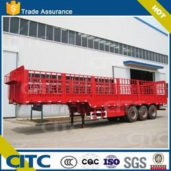 CITC 3 axles animal transport semi trailer long meter store house bar semi trailer factory price high quality