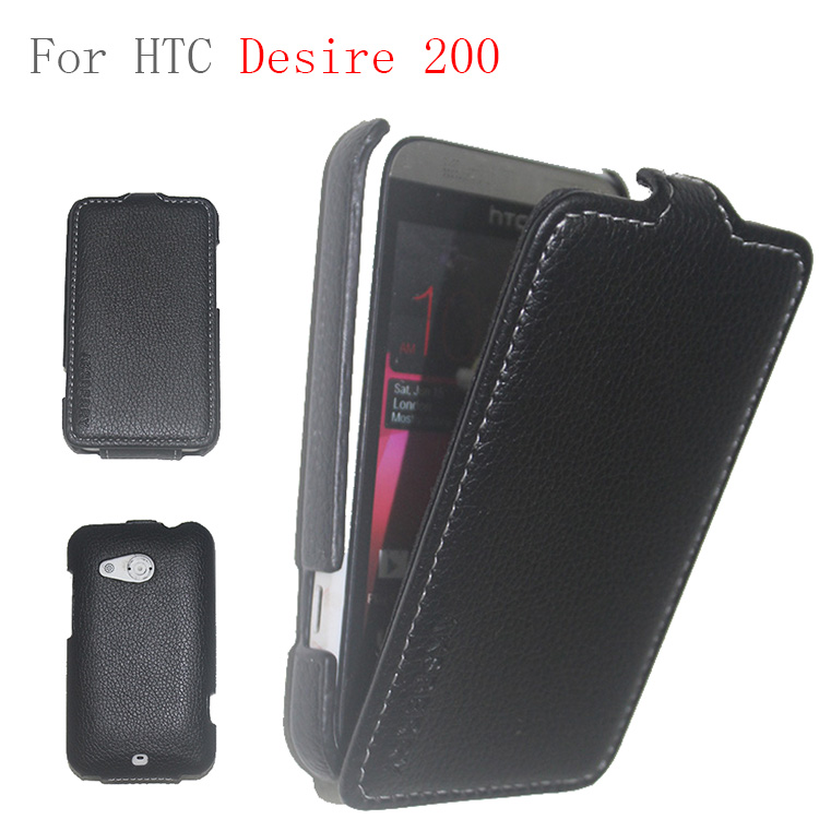 2014 newest and hottest products 3d image leather case for htc desire 200