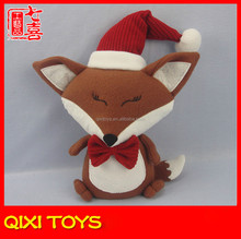 12 inches chrismas fox,plush stuffed toy,wholesale fox plush stuffed toy