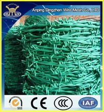 barbed wire pvc coated 14.4D29 barbed wire fencing length per roll