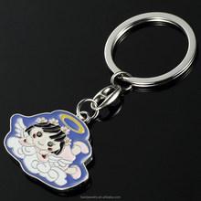 custom princess key chain enamel key chain angel metal key chain
