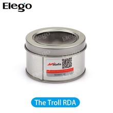 Quickest shipping time rebuidable atomizer The troll RDA, subtank mini bell cap