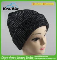 100% Acrylic AB Yarn Fashion Knitted Winter Beanie Hat