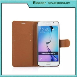 2015 Smartphone leather case.for leather galaxy s6 wallet case,phone case for samsung s6