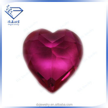 Charming decorative heart cut 8# ruby corundum fasion jewelry