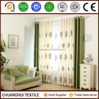 tree embroidered pattern living room window curtain