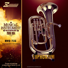 New design gold lacquer euphonium