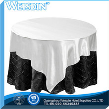 100% Polyester hot sale Plaid wedding table cloth table skirting