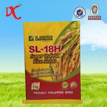 Plastic bag supplier bopp laminated pp woven bags for super hybrid rice seeds 5kgs