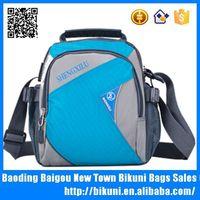 New nylon shoulder bag sports messenger bag with water bottle holder
