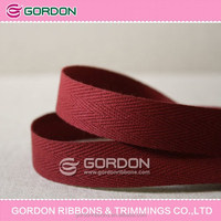 Marsala color cotton tapes bulk for trimmings