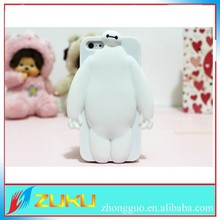 2015 new Baymax silicone cover for iPhone 5s , cartoon 3D baymax case